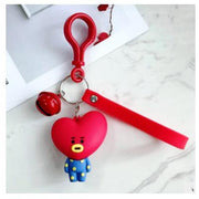 BTS x BT21 Lanyard Bell Keychain TATA Gotamochi BTS MERCH BT21 MERCH KAWAII STORE