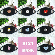 BTS x BT21 Mask Gotamochi BTS MERCH BT21 MERCH KAWAII STORE
