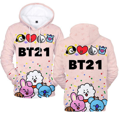 BTS x BT21 Party Hoodie style / S Gotamochi BTS MERCH BT21 MERCH KAWAII STORE