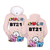 BTS x BT21 Party Hoodie - GOTAMOCHI KPOP BTS MERCH KAWAII Shop -