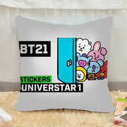 BTS x BT21 Pillow Case BTS x BT21 V3 Gotamochi BTS MERCH BT21 MERCH KAWAII STORE