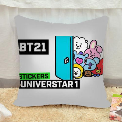 BTS x BT21 Pillow Case - GOTAMOCHI KPOP BTS MERCH KAWAII Shop -