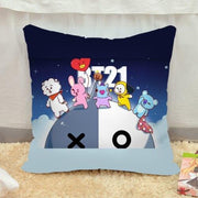 BTS x BT21 Pillow Case BTS x BT21 V5 Gotamochi BTS MERCH BT21 MERCH KAWAII STORE