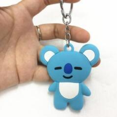 BTS x BT21 Rubber Keychains - GOTAMOCHI KPOP BTS MERCH KAWAII Shop -