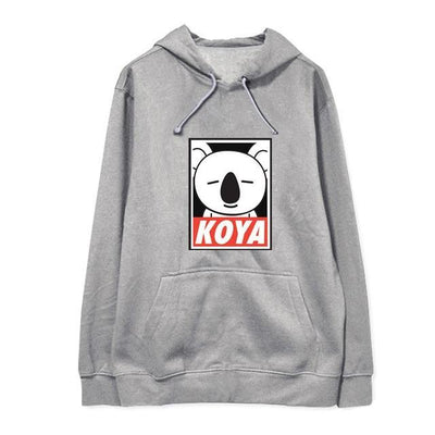 "BTS x BT21 ""Wanted"" Hoodie KOYA 1 / S Gotamochi BTS MERCH BT21 MERCH KAWAII STORE"