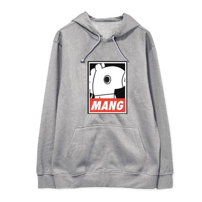 "BTS x BT21 ""Wanted"" Hoodie MANG 1 / S Gotamochi BTS MERCH BT21 MERCH KAWAII STORE"