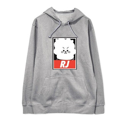 "BTS x BT21 ""Wanted"" Hoodie RJ 1 / S Gotamochi BTS MERCH BT21 MERCH KAWAII STORE"