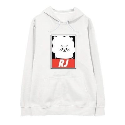 "BTS x BT21 ""Wanted"" Hoodie RJ / S Gotamochi BTS MERCH BT21 MERCH KAWAII STORE"
