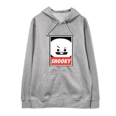 "BTS x BT21 ""Wanted"" Hoodie SHOOKY 1 / S Gotamochi BTS MERCH BT21 MERCH KAWAII STORE"