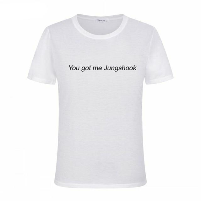 "BTS ""You Got Me Jungshook"" Tee Gotamochi BTS MERCH BT21 MERCH KAWAII STORE"