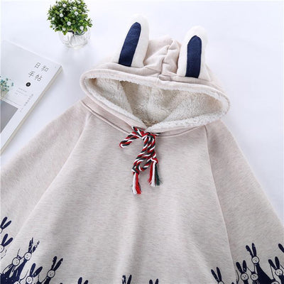 Bunny Cloak - GOTAMOCHI KPOP BTS MERCH KAWAII Shop - Hoodies & Sweatshirts