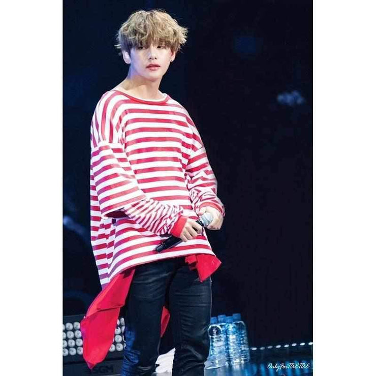 Candy Cane Layered Shirt Gotamochi BTS MERCH BT21 MERCH KAWAII STORE