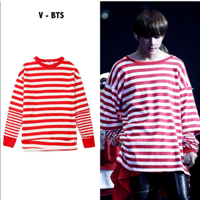 Candy Cane Layered Shirt S Gotamochi BTS MERCH BT21 MERCH KAWAII STORE