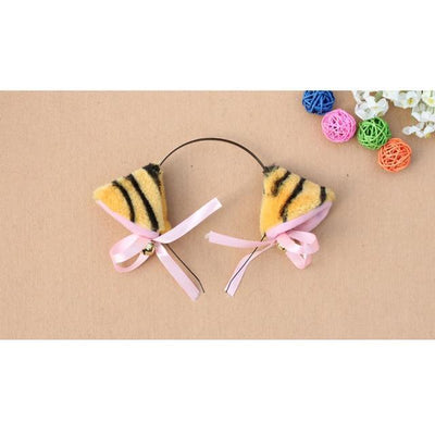 Cosplay Neko Kitten Ears with Bell Hairclip Gold Gotamochi BTS MERCH BT21 MERCH KAWAII STORE