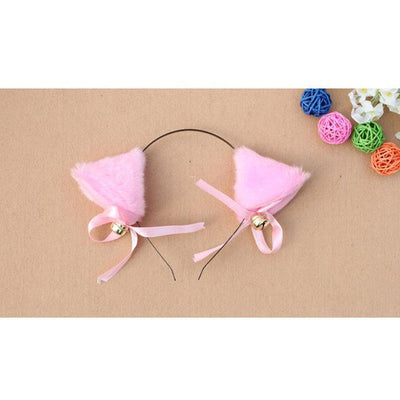 Cosplay Neko Kitten Ears with Bell Hairclip Pink Gotamochi BTS MERCH BT21 MERCH KAWAII STORE