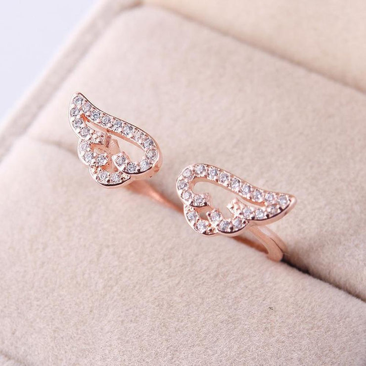 Cute Angel Wings Adjustable Ring [2 Colors] Gotamochi BTS MERCH BT21 MERCH KAWAII STORE