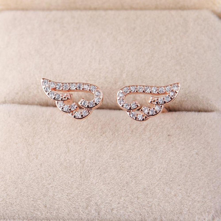 Cute Angel Wings Adjustable Ring [2 Colors] Rose Gold Gotamochi BTS MERCH BT21 MERCH KAWAII STORE