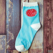 Cute Fruit Design Cotton Socks [8 Styles] Apple Gotamochi BTS MERCH BT21 MERCH KAWAII STORE