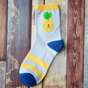 Cute Fruit Design Cotton Socks [8 Styles] Pineapple Gotamochi BTS MERCH BT21 MERCH KAWAII STORE