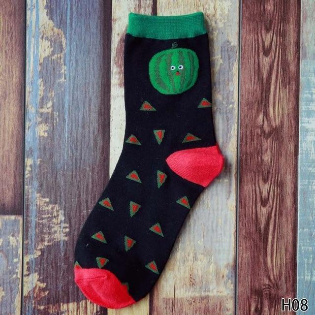 Cute Fruit Design Cotton Socks [8 Styles] Watermelon Gotamochi BTS MERCH BT21 MERCH KAWAII STORE