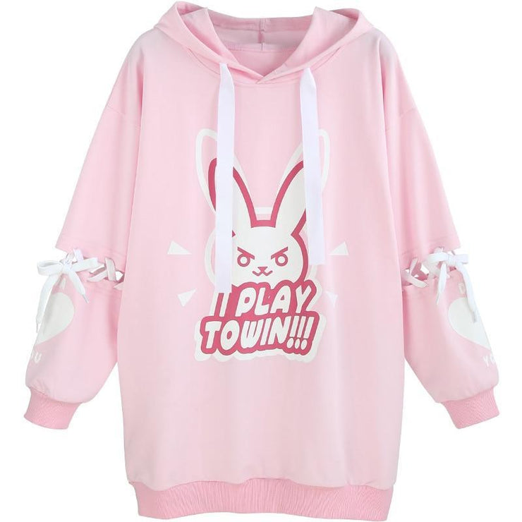 D.VA DVA Cotton Fleece Over-sized Hoodie Gotamochi BTS MERCH BT21 MERCH KAWAII STORE