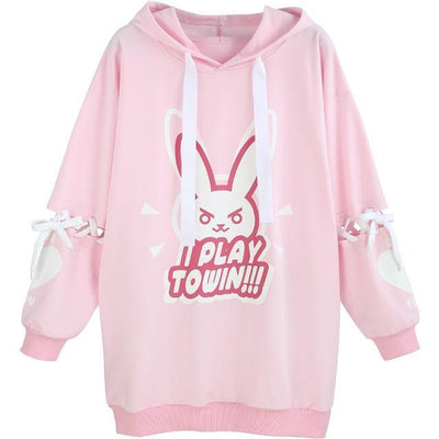 D.VA DVA Cotton Fleece Over-sized Hoodie - GOTAMOCHI KPOP BTS MERCH KAWAII Shop -