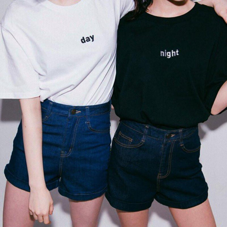 Day & Night Tee Gotamochi BTS MERCH BT21 MERCH KAWAII STORE