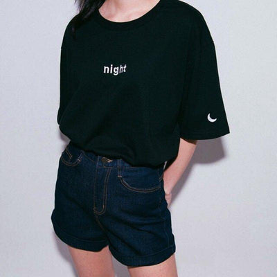 Day & Night Tee night Gotamochi BTS MERCH BT21 MERCH KAWAII STORE