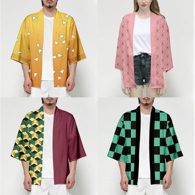 Demon Slayer Kimono Jacket Anime Cosplay Costume Gotamochi BTS MERCH BT21 MERCH KAWAII STORE