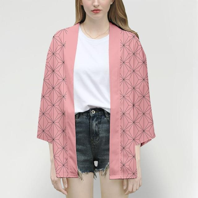 Demon Slayer Kimono Jacket Anime Cosplay Costume Style 3 / XXS Gotamochi BTS MERCH BT21 MERCH KAWAII STORE