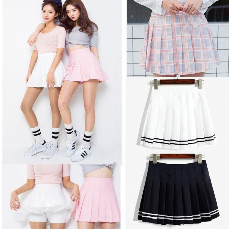 Elegant High-waist Mini Skirts [6 COLORS] Gotamochi BTS MERCH BT21 MERCH KAWAII STORE