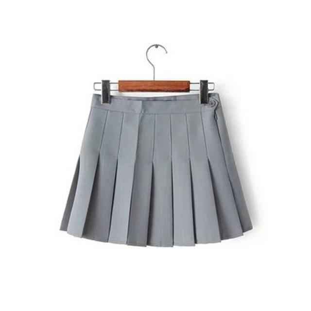 Elegant High-waist Mini Skirts [6 COLORS] Gray / L Gotamochi BTS MERCH BT21 MERCH KAWAII STORE