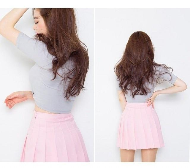 Elegant High-waist Mini Skirts [6 COLORS] Pink / L Gotamochi BTS MERCH BT21 MERCH KAWAII STORE
