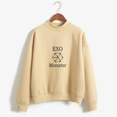 EXO Monster Sweater khaki / M Gotamochi BTS MERCH BT21 MERCH KAWAII STORE