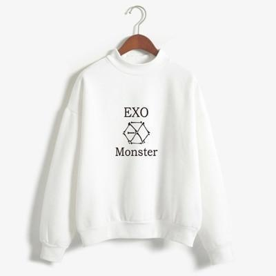 EXO Monster Sweater white / M Gotamochi BTS MERCH BT21 MERCH KAWAII STORE