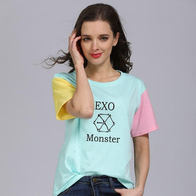 EXO Pastel Tee Gotamochi BTS MERCH BT21 MERCH KAWAII STORE