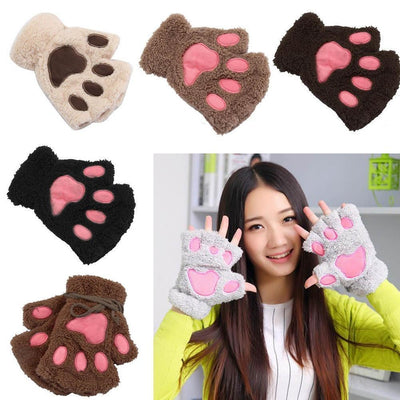 Fluffy Bear Paw Plush Mitten Gotamochi BTS MERCH BT21 MERCH KAWAII STORE