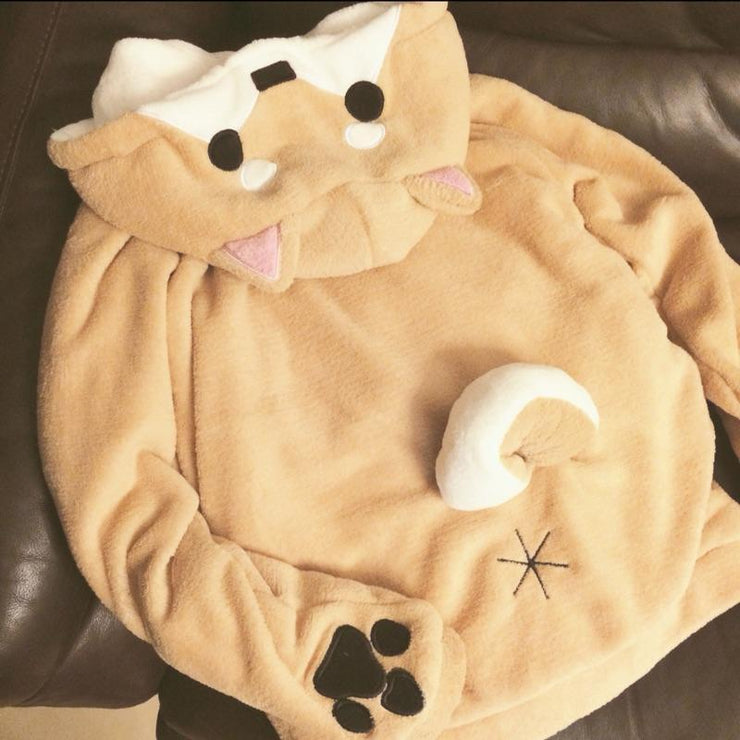 Fluffy DOGE Hoodie Gotamochi BTS MERCH BT21 MERCH KAWAII STORE