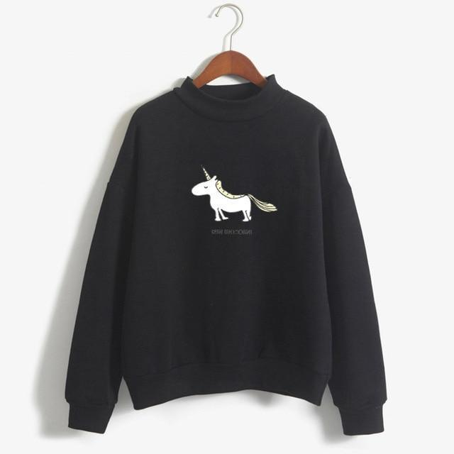 FUN UNICORN Sweater black / M Gotamochi BTS MERCH BT21 MERCH KAWAII STORE
