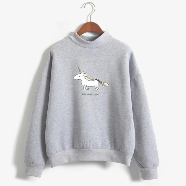FUN UNICORN Sweater grey / M Gotamochi BTS MERCH BT21 MERCH KAWAII STORE