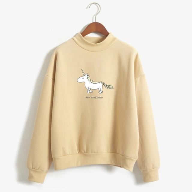 FUN UNICORN Sweater khaki / M Gotamochi BTS MERCH BT21 MERCH KAWAII STORE