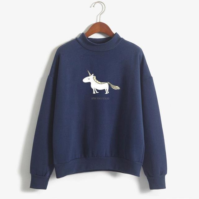 FUN UNICORN Sweater navy / M Gotamochi BTS MERCH BT21 MERCH KAWAII STORE