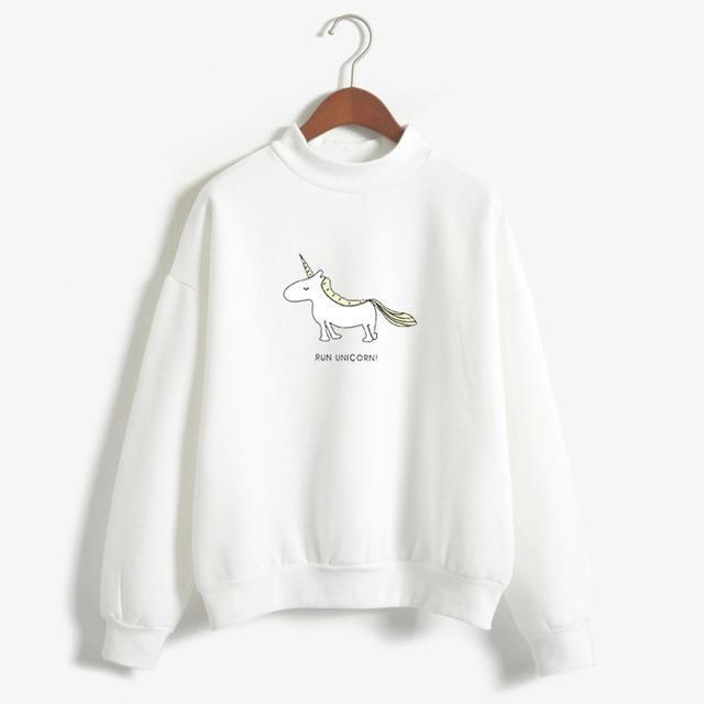 FUN UNICORN Sweater white / M Gotamochi BTS MERCH BT21 MERCH KAWAII STORE