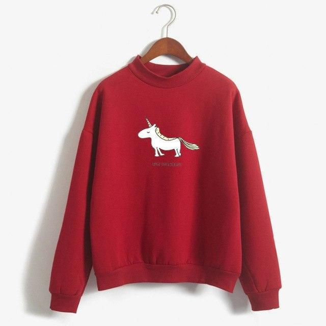 FUN UNICORN Sweater wine / M Gotamochi BTS MERCH BT21 MERCH KAWAII STORE
