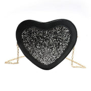 Glitter Heart Crossbody Bag Black Gotamochi BTS MERCH BT21 MERCH KAWAII STORE