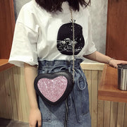 Glitter Heart Crossbody Bag Gotamochi BTS MERCH BT21 MERCH KAWAII STORE