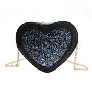 Glitter Heart Crossbody Bag Blue Gotamochi BTS MERCH BT21 MERCH KAWAII STORE