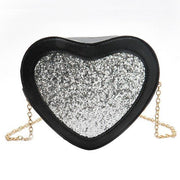 Glitter Heart Crossbody Bag Silver Gotamochi BTS MERCH BT21 MERCH KAWAII STORE