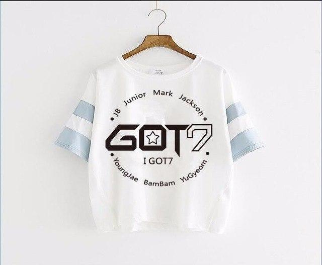 GOT7 Strip Tee Gotamochi BTS MERCH BT21 MERCH KAWAII STORE