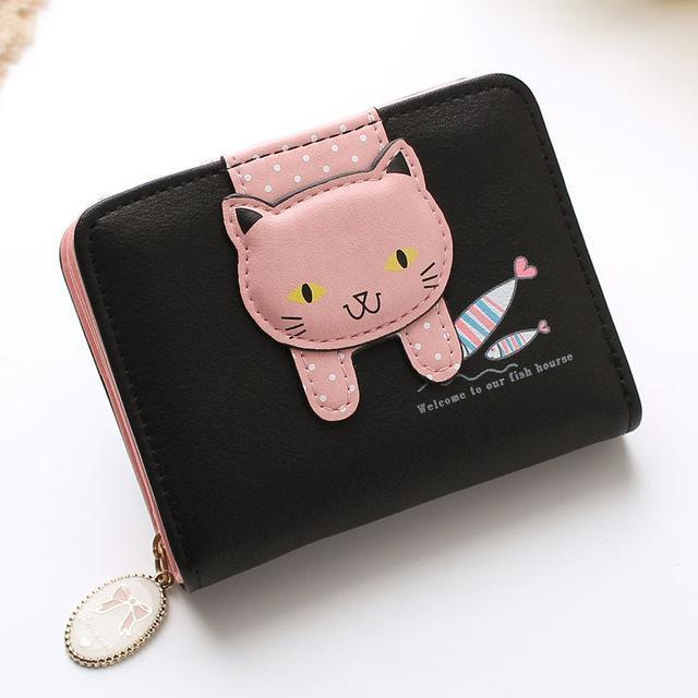 Hanging Cat Mini Purse Black Gotamochi BTS MERCH BT21 MERCH KAWAII STORE